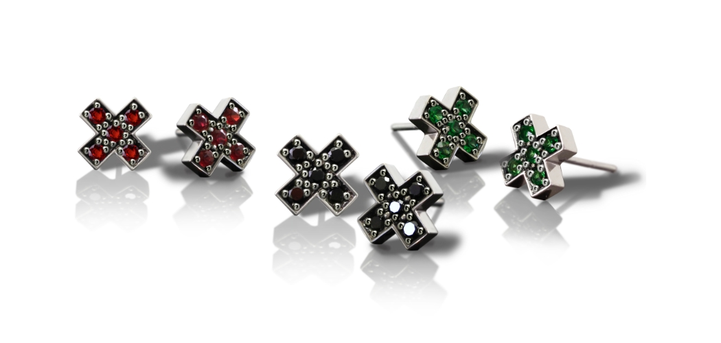 Silver Swiss Cross Earrings by Scarab Jewellery Studio