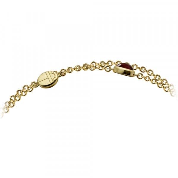 Gold Lariat Necklace MultiColoured Gemstones by Scarab Jewellery Studio