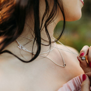 Silver Moonstone Daisy Drop Pendant and Silver Lariat Necklace MultiColoured Gemstones by Scarab Jewellery Studio