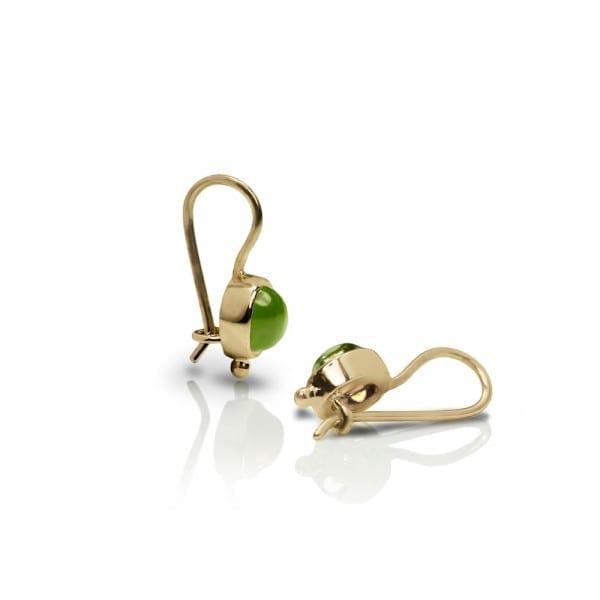 Gold Peridot Drop Earrings by Scarab Jewellery Studio