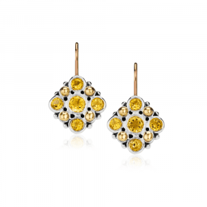 Victorian Earrings Citrine by Scarab Jewellery Studio