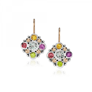 Victorian Earrings MultiColour Gemstones by Scarab Jewellery Studio
