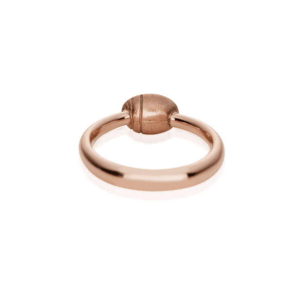 Secret Scarab Oval Moonstone Rose Gold Ring by Scarab Jewellery Studio