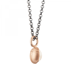 Red Gold Scarab Moonstone Pendant by Scarab Jewellery Studio
